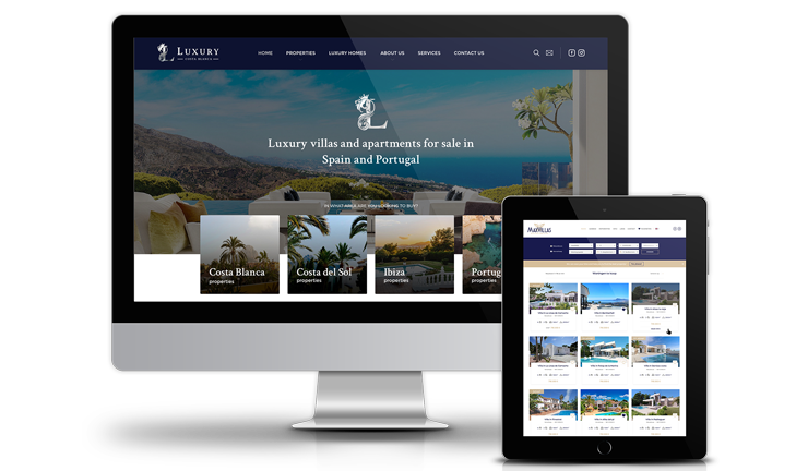 Diseño web adaptable para Bastjon Azul real estate Spain